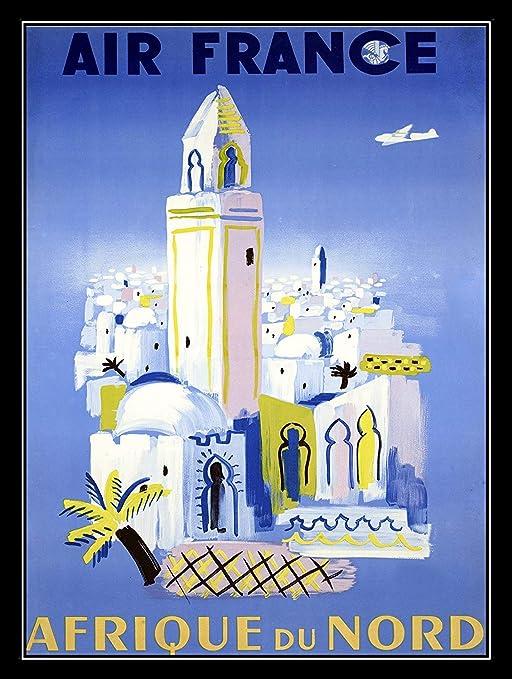 Shunry Air France Afrique Placa Cartel Vintage Estaño Signo ...