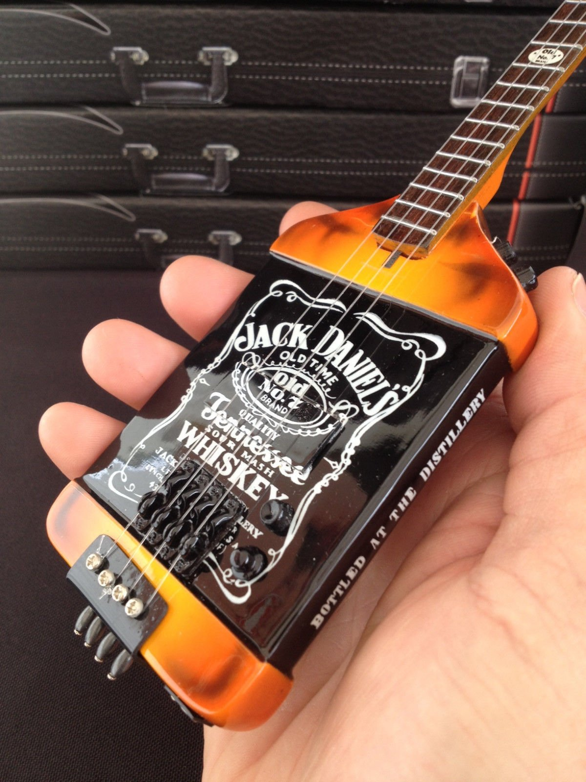 Officially Licensed Michael Anthony Jack Daniels JD Bass Mini Guitar