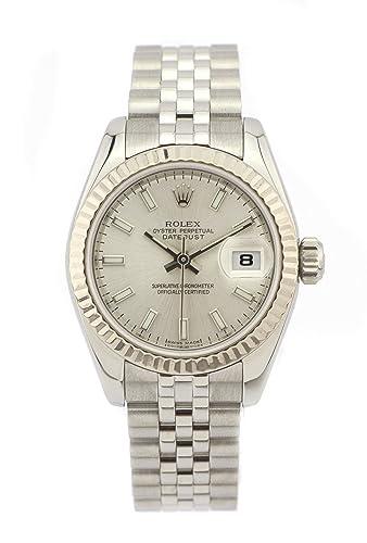 Rolex Datejust 26 mm acero inoxidable y 18 K oro blanco reloj de mujer automático 179174 (Certificado) de segunda mano: Rolex: Amazon.es: Relojes