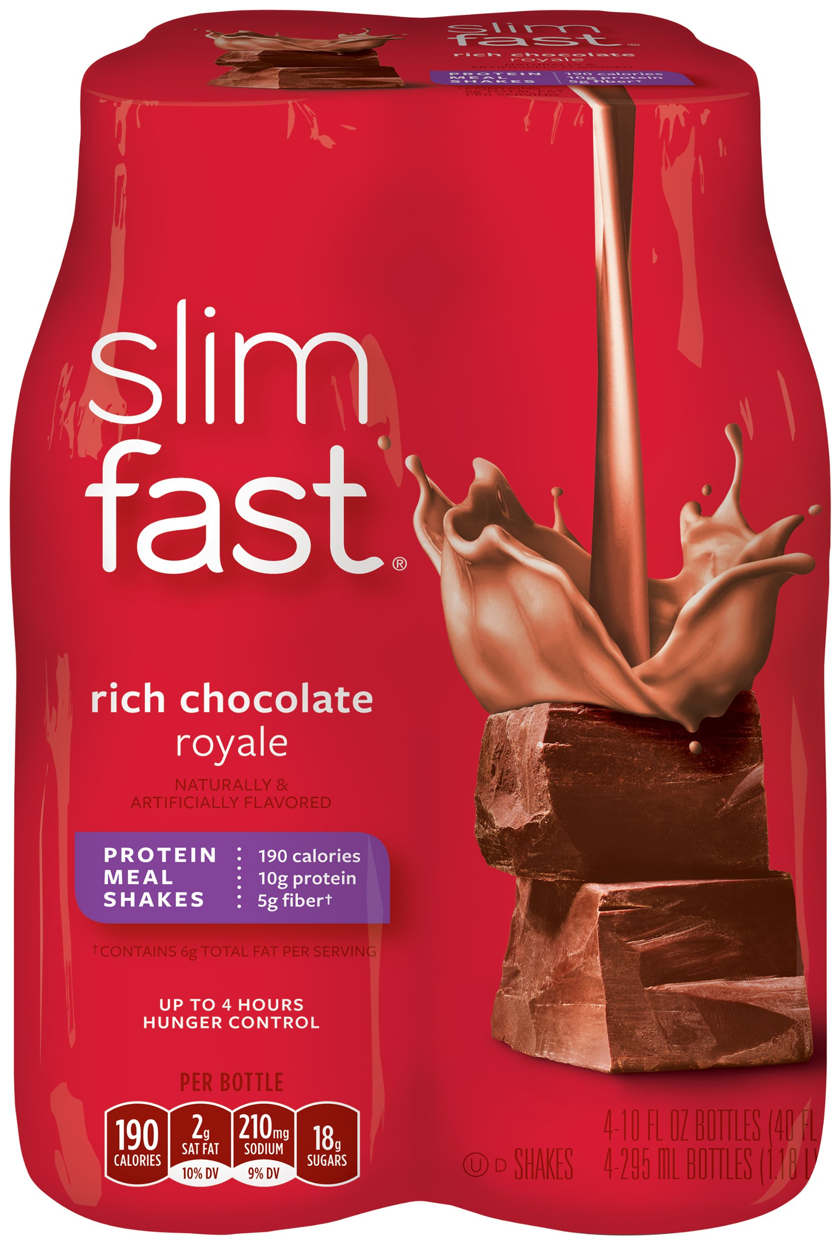 Slim Fast 3-2-1 Rich Chocolate Royale Shake, 10 OZ(Case Contains: 24 Bottles) by SlimFast