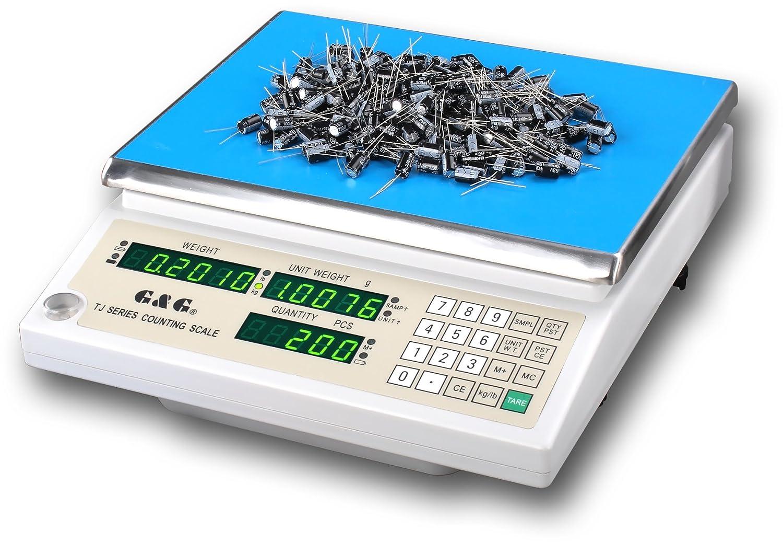 TJ6KA 6 kg/0,5 g/6000 g/0,5 g industrie zählwaage laborwaage balance balance &g/g: Amazon.es: Oficina y papelería