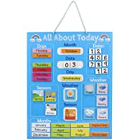 Navaris Kids Magnetic Calendar - Early Years Learning - Weather, Date, Month, Day, Season Educational Chart for Children…