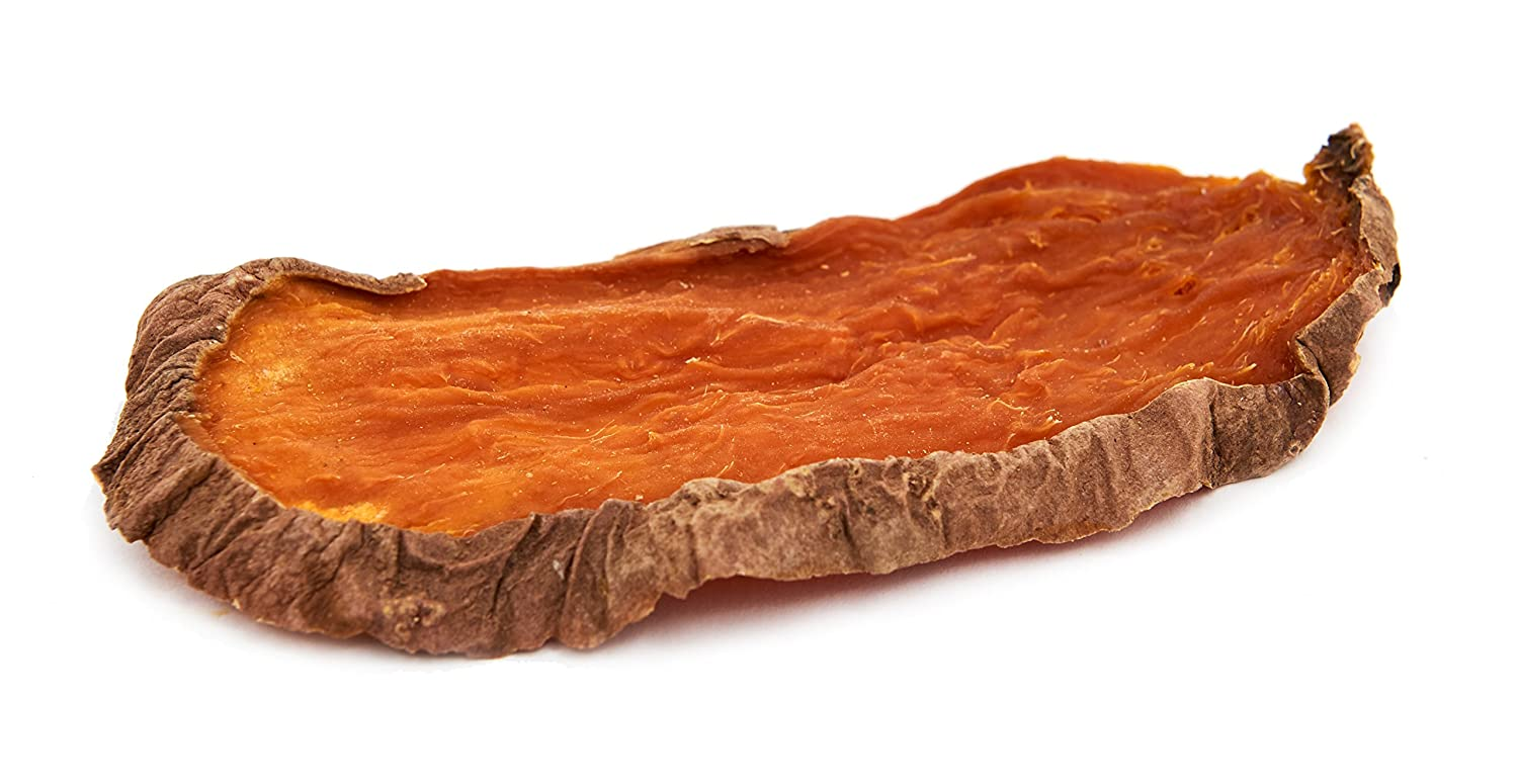 Brutus Barnaby Sweet Potato Dog Treats- Dehydrated North American All Natural Thick Cut Sweet Potato Slices, Grain Free, No Preservatives Added, Best High Anti-Oxidant Healthy Dog Chew