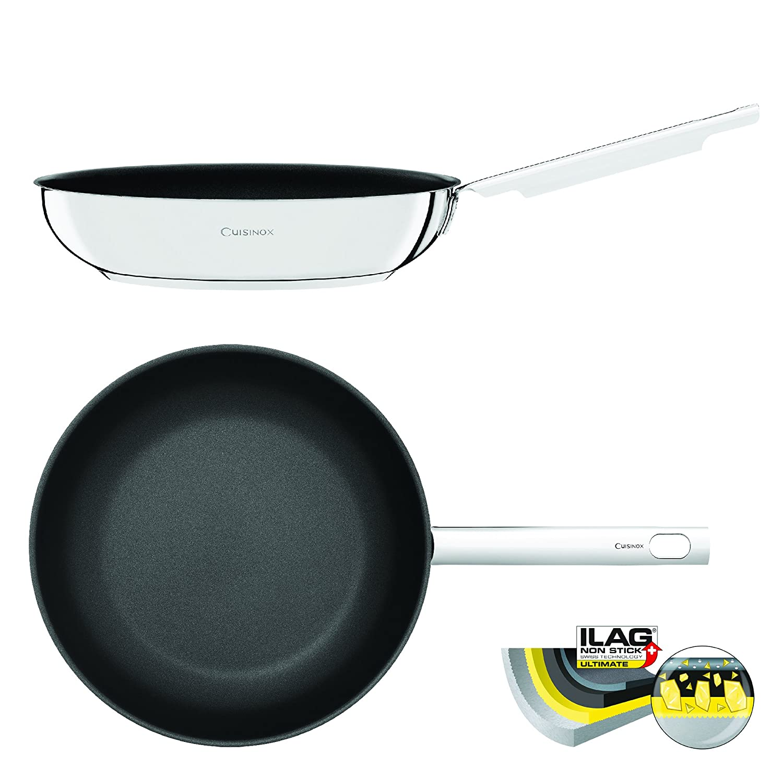 Cuisinox - Sartén Fabricada en acero inoxidable con ultimate ILAG revestimiento antiadherente - 20 cm: Amazon.es: Hogar