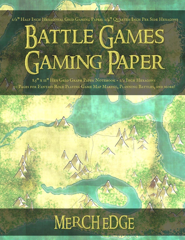 battle games gaming paper 1 2 half inch hexagonal grid gaming