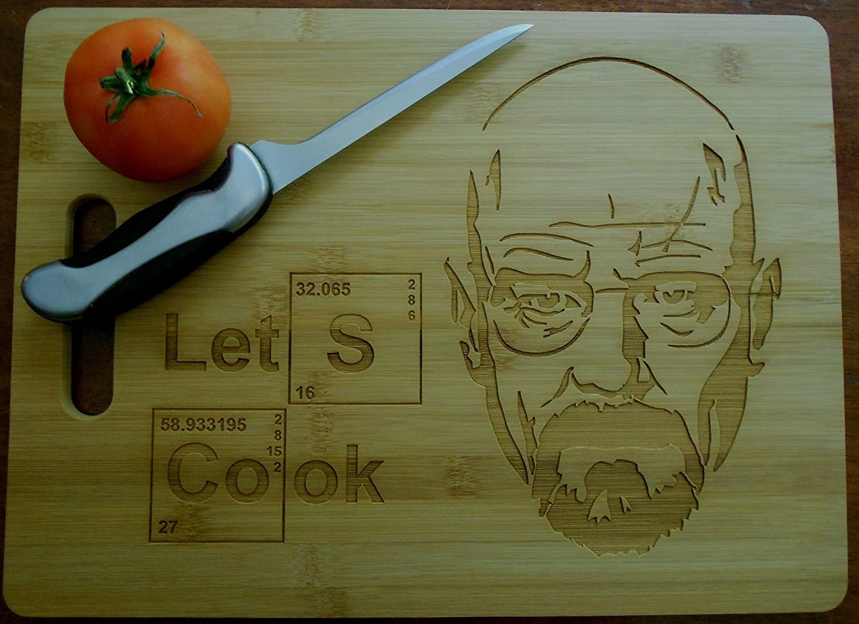 Custom Bamboo Cutting Board Breaking Bad Wedding Gift Lets Cook