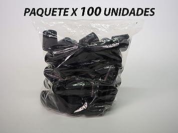 Sanfor 71154 Paquete 100 Contera andador negra C/arandela de ...
