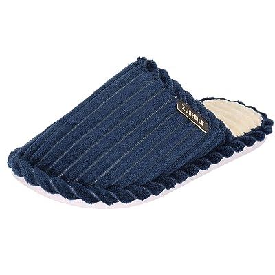 labato Comfort House Slippers for Women Men Corduroy Fleece Memory Foam Warm House Shoes Indoor Outdoor Use | Slippers