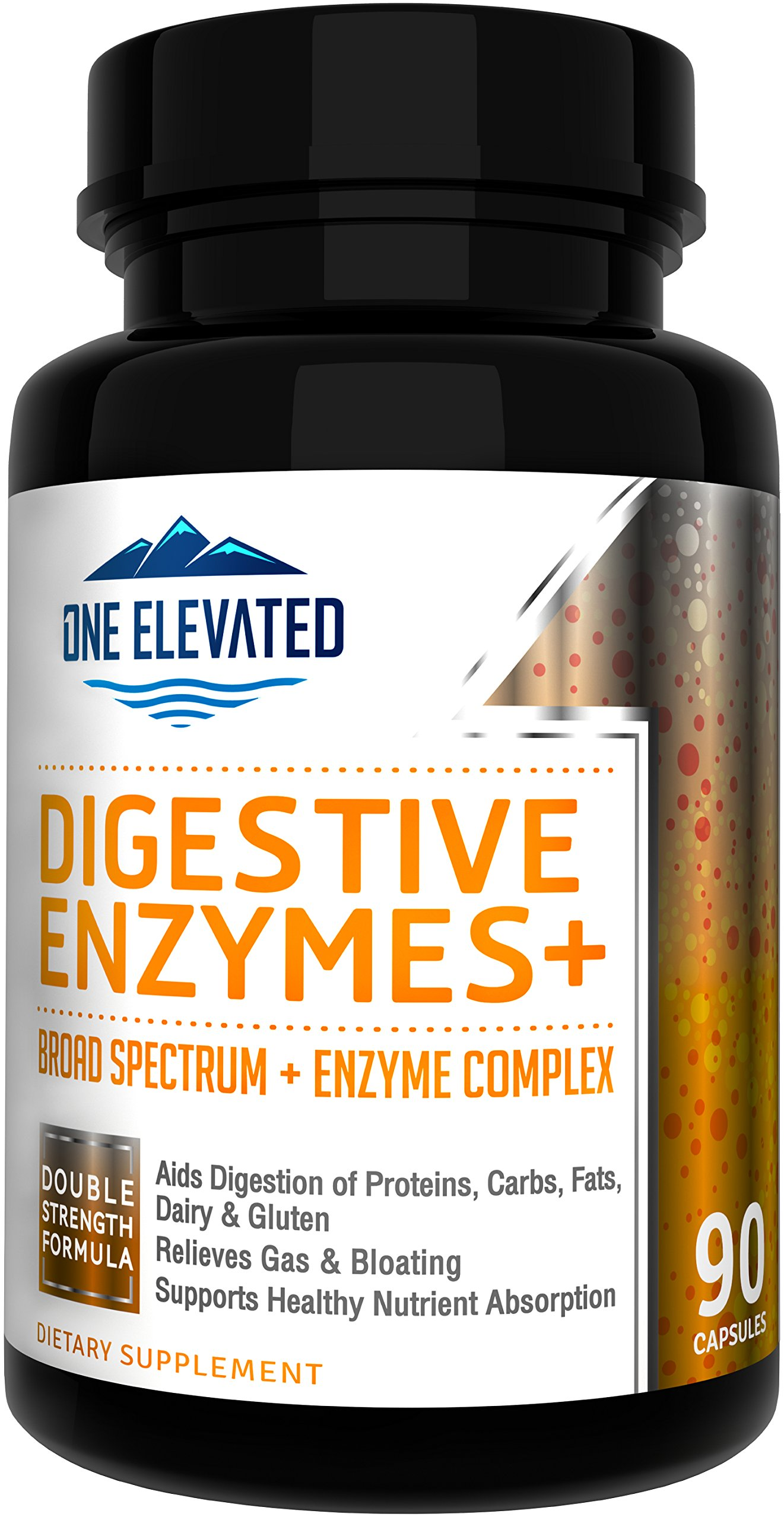 Full Spectrum & Highest Grade Digestive Enzymes Supplements. Double Potency Formula Ensuring Highest Enzymes Activity Level Delivery. Digest All Food Groups, Gluten & Lactose for Broad PH Setting.