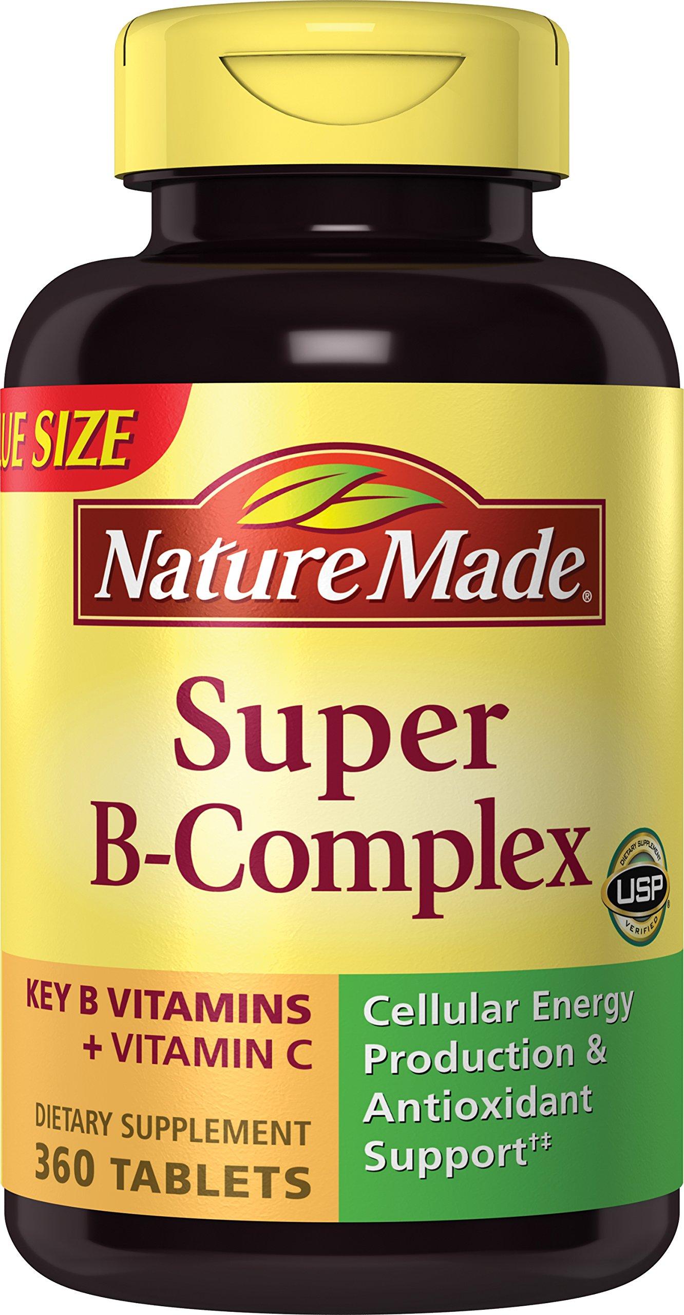 Nature Made Super Vitamin B-Complex + Vitamin C Tablets, 360 ct