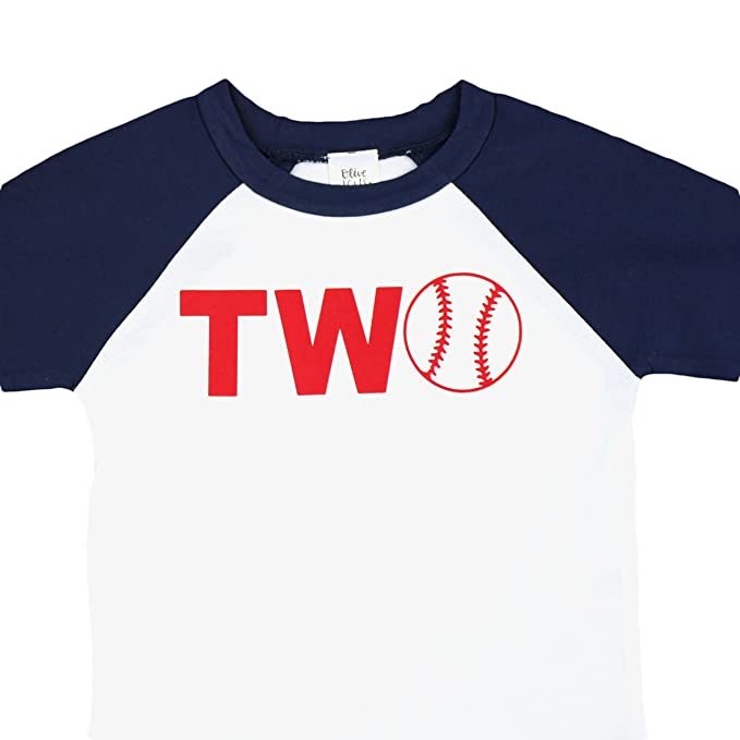 Baseball Two 2nd Birthday Shirt Toddler Boys Boy