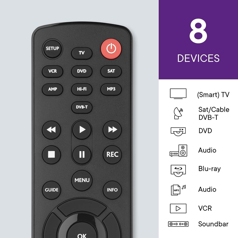 Amazon.com: One For All contorno Universal 8 en 1 mando a ...