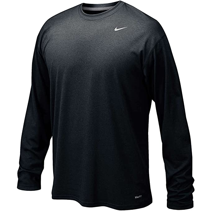 online retailer aca7d 75e10 Nike 384408 Legend Dri-Fit Long Sleeve Tee - S Black