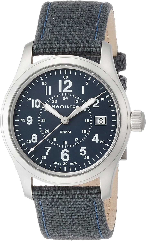 Hamilton Reloj Analogico para Hombre de Cuarzo con Correa en Tela H68201943