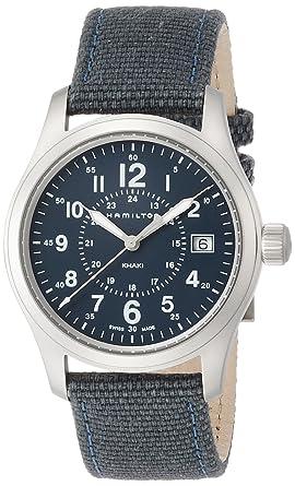 Hamilton Reloj Analogico para Hombre de Cuarzo con Correa en Tela H68201943: Amazon.es: Relojes