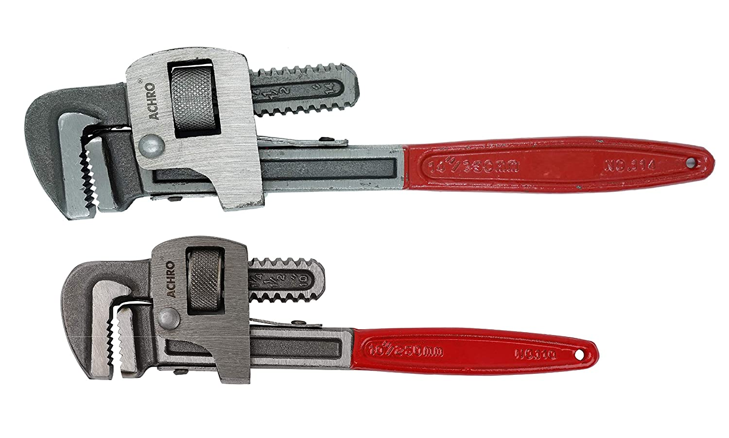 ACHRO Pipe Wrench Set (Pack of 2) - 14 Inch Pipe Wrench and 10 Inch Pipe  Wrench: Amazon.in: Industrial & Scientific