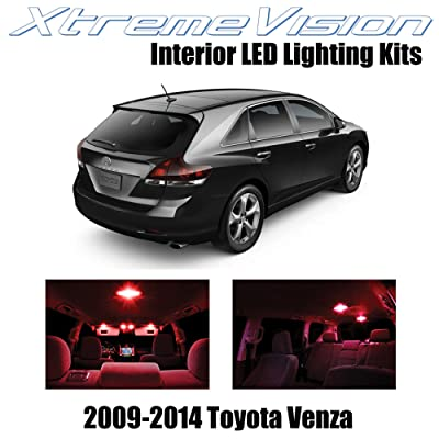 XtremeVision Interior LED for Toyota Venza 2009-2014 (14 Pieces) Red Interior LED Kit + Installation Tool: Automotive [5Bkhe2014688]