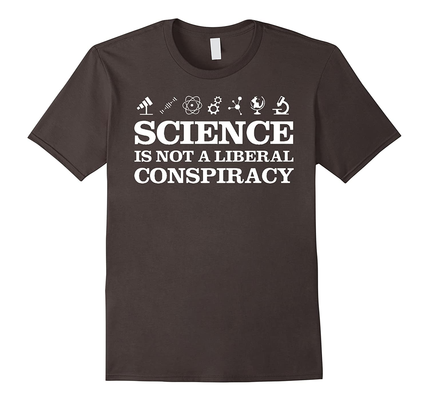 Mens Science Is Not A Liberal Conspiracy T-Shirt-TD