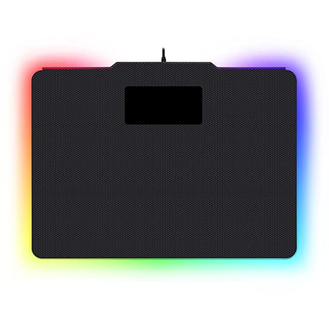 Redragon P010 Rgb Mouse Pad, Wired Led Gaming Mouse Pad With 16.8 Million Colors, Hard Non Slip Rubber Surface Optimized For All Mmo Computer Mouse Sensitivity And Sensors by Redragon