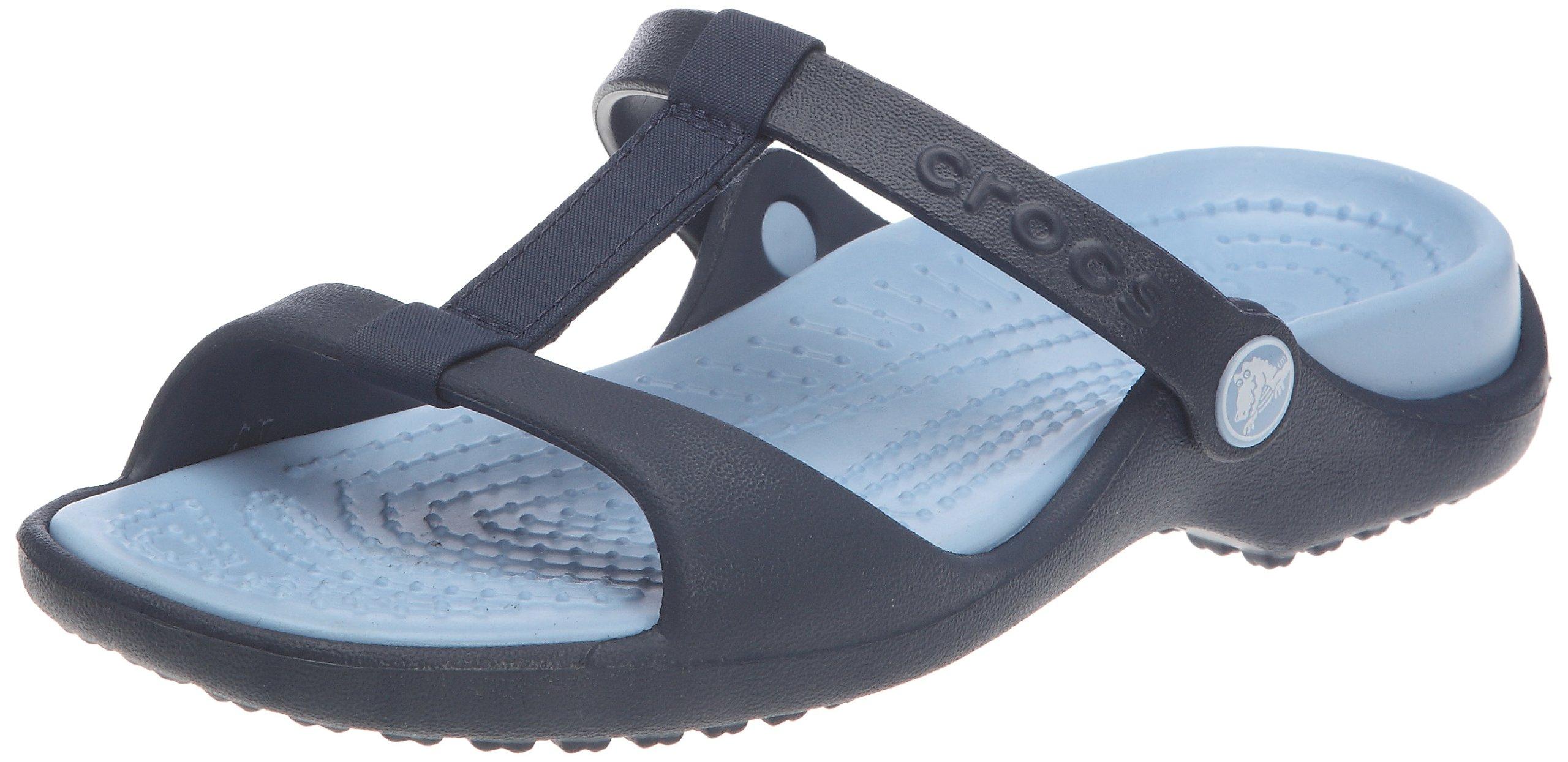 77aedd4fde2c5 Galleon - Crocs Cleo III Ladies Fashion Mules 11216 9 B(M) US Navy Light  Blue