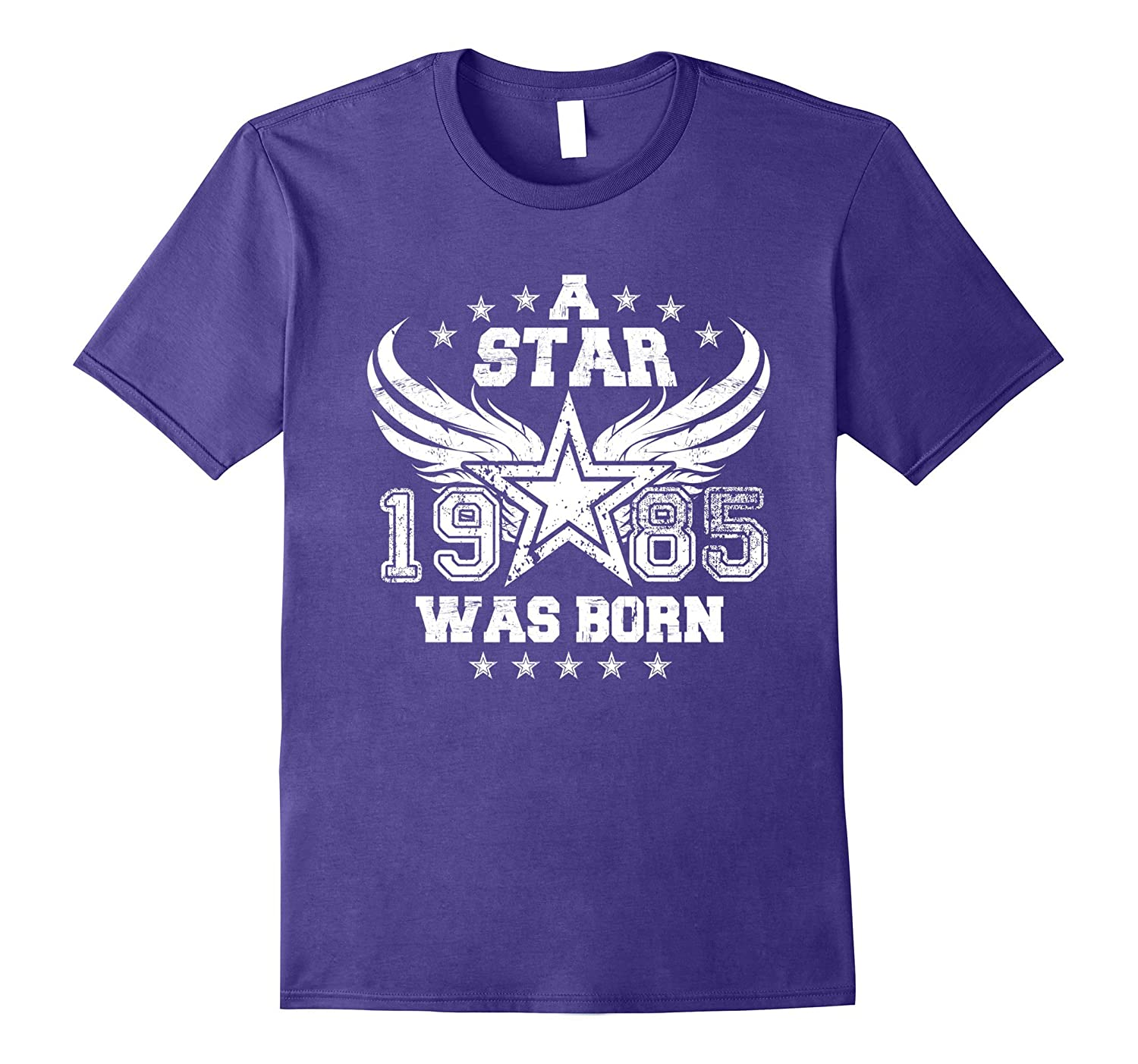 1985 Star Was Born Funny 32nd Birthday Gift T shirts-Vaci