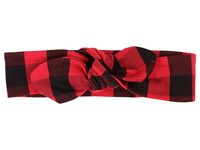 Amazon.com  Red and Black Plaid Headband Adult Knotted Headband Toddler  Knotted Headband Baby Knotted Headband  Handmade 0def8cc5cb2