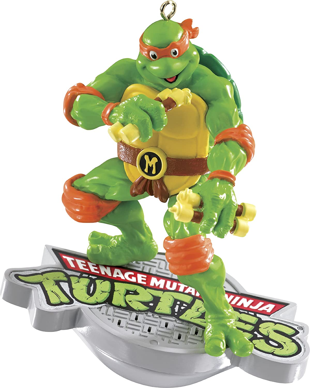 Teenage Mutant Ninja Turtles Michelangelo With Sound 2014 Carlton Heirloom Ornament