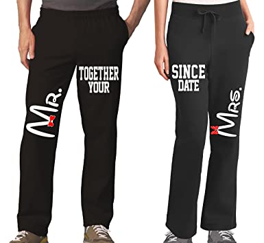 114256fcae Amazon.com  Mr Mrs Couples Pajama Pants   Bottoms - Couple Outfits ...
