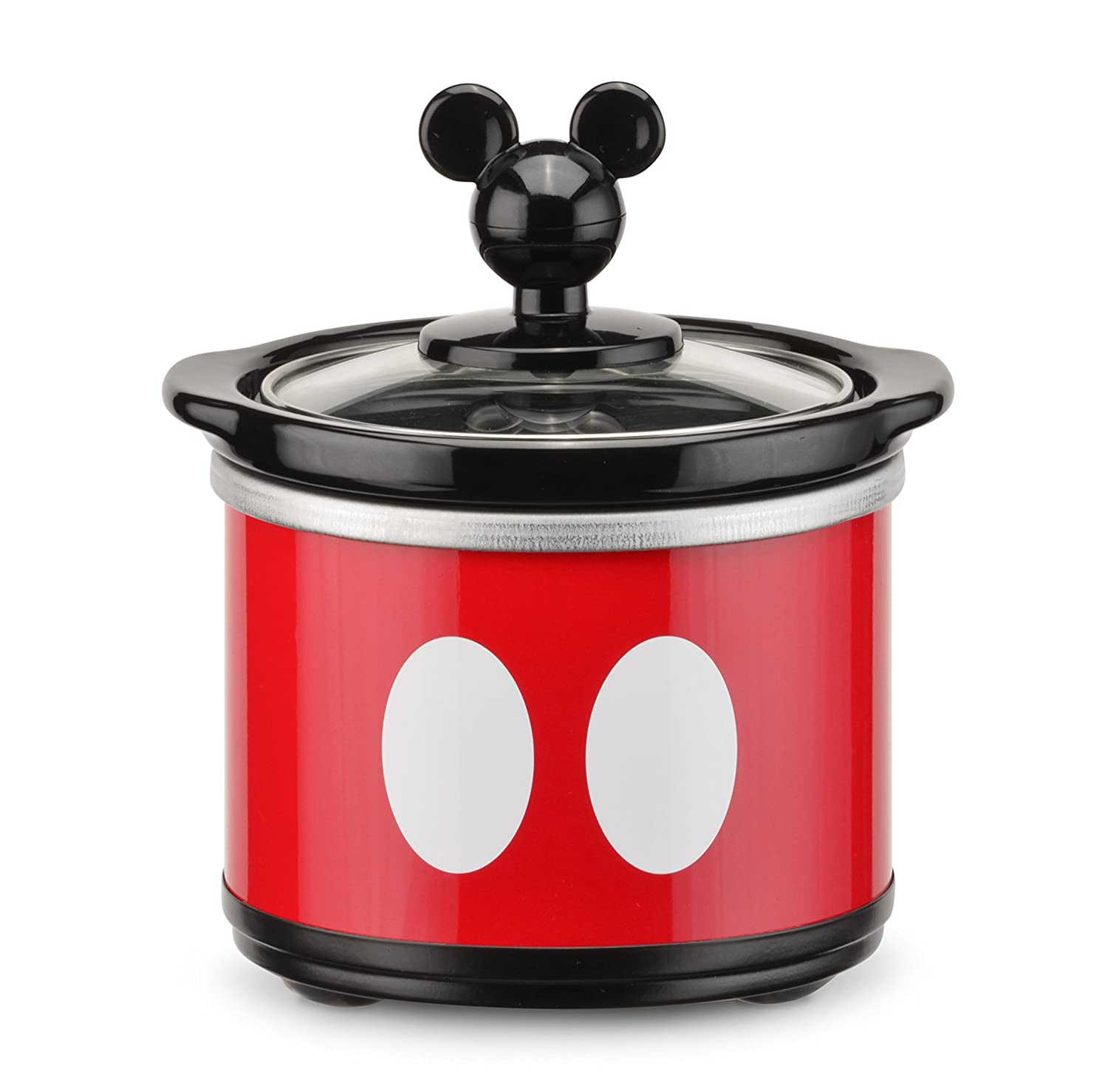 Uncategorized Disney Kitchen Appliances amazon com disney dcm 502 mickey mouse 5 quart oval slow cooker with 20 oz dipper redblack kitchen dining