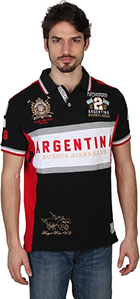 GEOGRAPHICAL NORWAY Polo Homme Kargentina Noir ...
