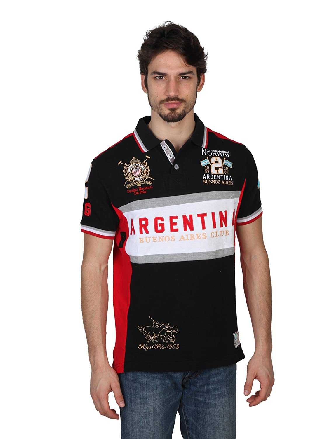 Polo GEOGRAPHICAL NORWAY Homme Kargentina noir - -: Amazon.es ...