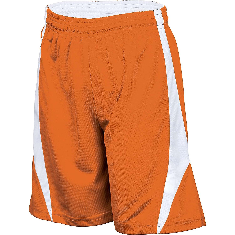 Alleson Youthリバーシブルバスケットボールショーツ – オレンジ/ホワイト – L B004YUHICK