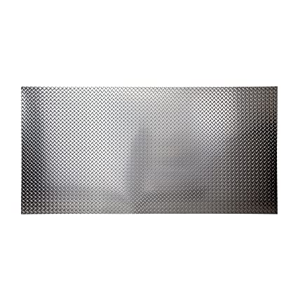 Fasade 4ft x 8ft x .013in Diamond Plate Brushed Aluminum Decorative Wall Panel - Fast  sc 1 st  Amazon.com & Amazon.com: Fasade 4ft x 8ft x .013in Diamond Plate Brushed Aluminum ...