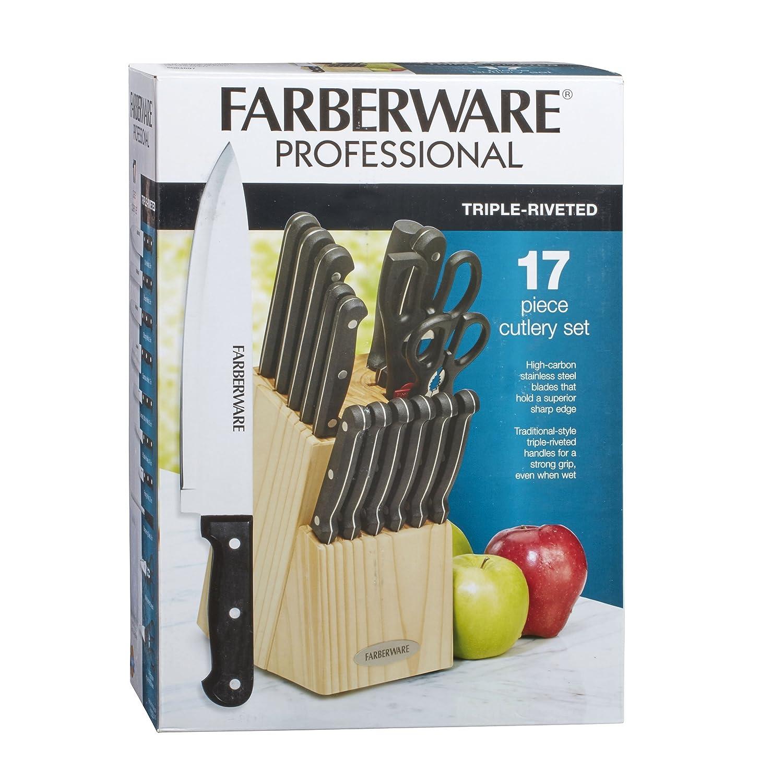 Amazon.com: Farberware 5084697 17-Piece Triple Rivet Stainless Steel ...