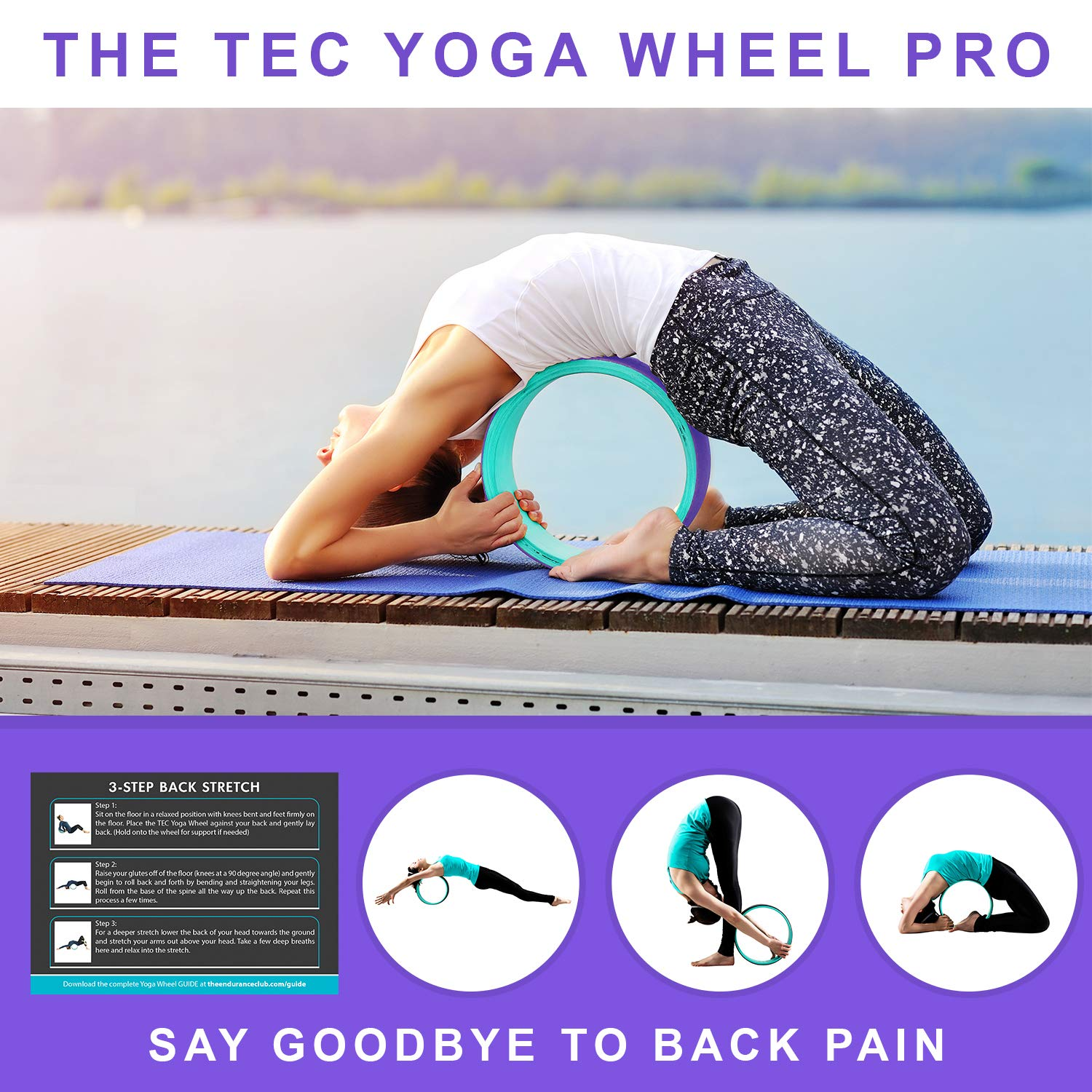 TEC Yoga Wheel Pro - Strong, Comfortable 13