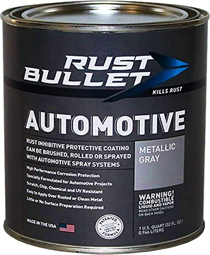 RUST BULLET Automotive Rust Inhibitor Paint - Metallic Grey