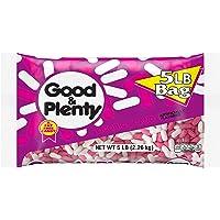 GOOD & PLENTY Licorice Flavored Candy, Fat Free, 80 oz Bulk Bag