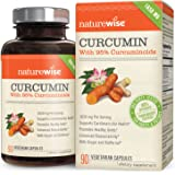 NatureWise Curcumin Turmeric 1650mg with 95% Curcuminoids & BioPerine Black Pepper Extract, Advanced Absorption, Cardiovascular & Healthy Joints Support, Gluten-Free, Non-GMO, 90 Count