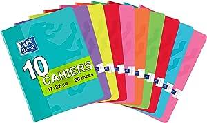 Oxford Classique – Lote de 10 cuadernos grapados pequeños de 17 x ...