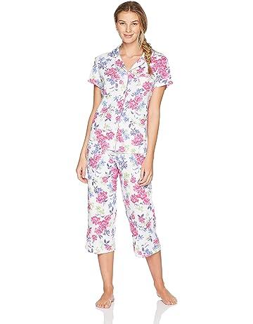 3cc6a9fe082 Karen Neuburger Women s Short-Sleeve Floral Girlfriend Crop Pajama Set