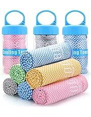 BOGI Kühlendes Handtuch, für sofortige Cool - Einsatz ALS Schal Haarband Armband Bandana-weicher Cool Bambus Faser-Stay Cool für Yoga Reise Climb Golf Fußball Tennis & Outdoor Sports (größe: M L)
