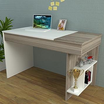 hidden escritorio avola blanco mesa de ordenador para estudio y oficina de diseo