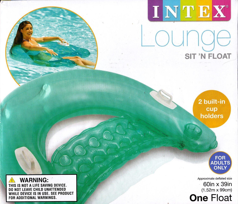 INTEX Sit n Float Classic Inflatable Raft Swimming Pool Lounge ...