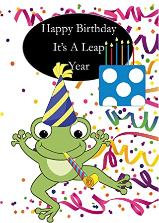 Leap Year Birthday Card Male Amazoncouk Office Products
