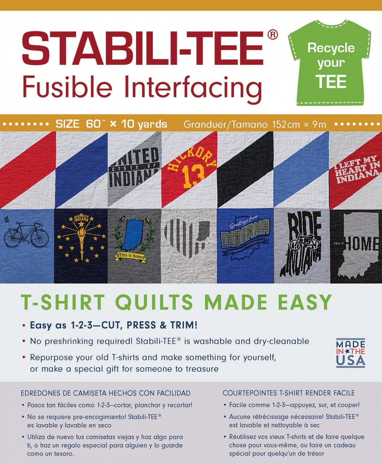 C& T PUBLISHING Stabili-TEE White Fusible T-Shirt Interfacing 60 By The Yard C & T Publishing