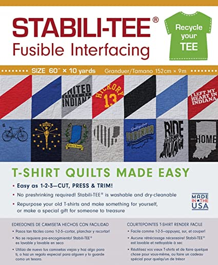 Amazon Stabili Tee White Fusible T Shirt Interfacing 60 By The