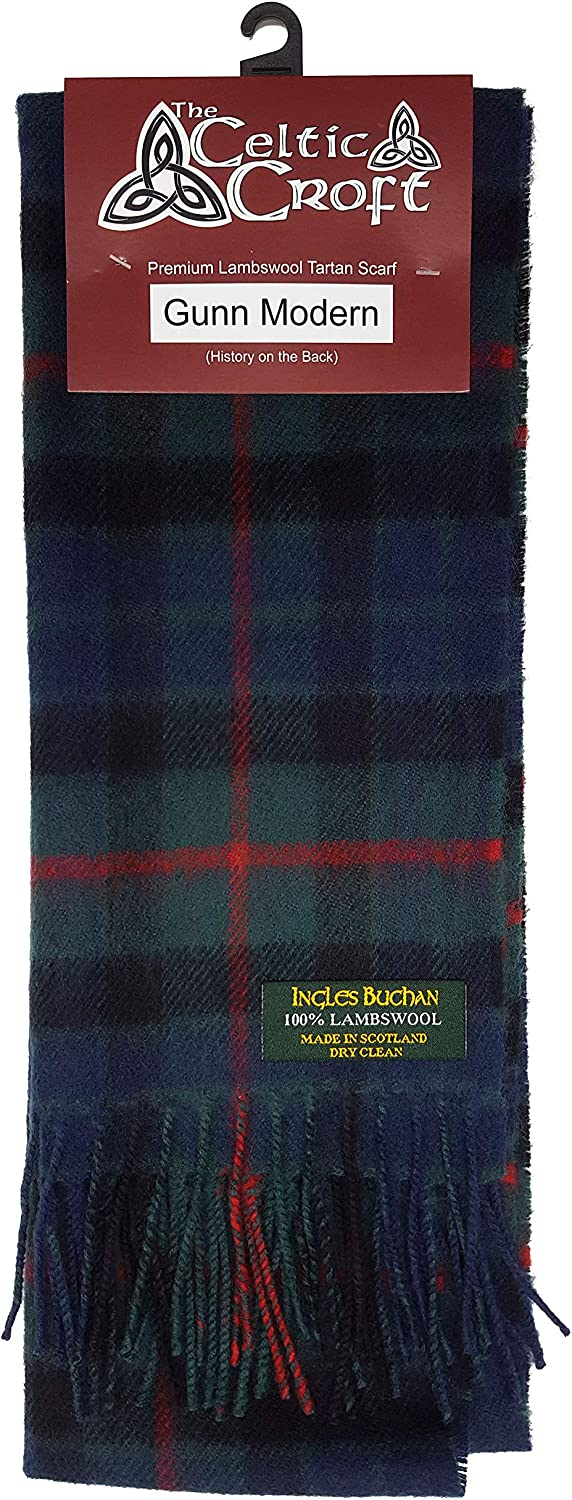 Scottish 100 /% Authentic Wool Tartan Henderson Modern Clan Scarf New !