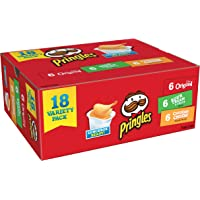 Pringles Snack Stacks Potato Crisps Chips, Flavored Variety Pack, 18 Count