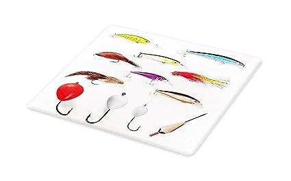 Tabla de cortar para pesca, materiales de malla con jarrones giratorios, flotadores de cañas