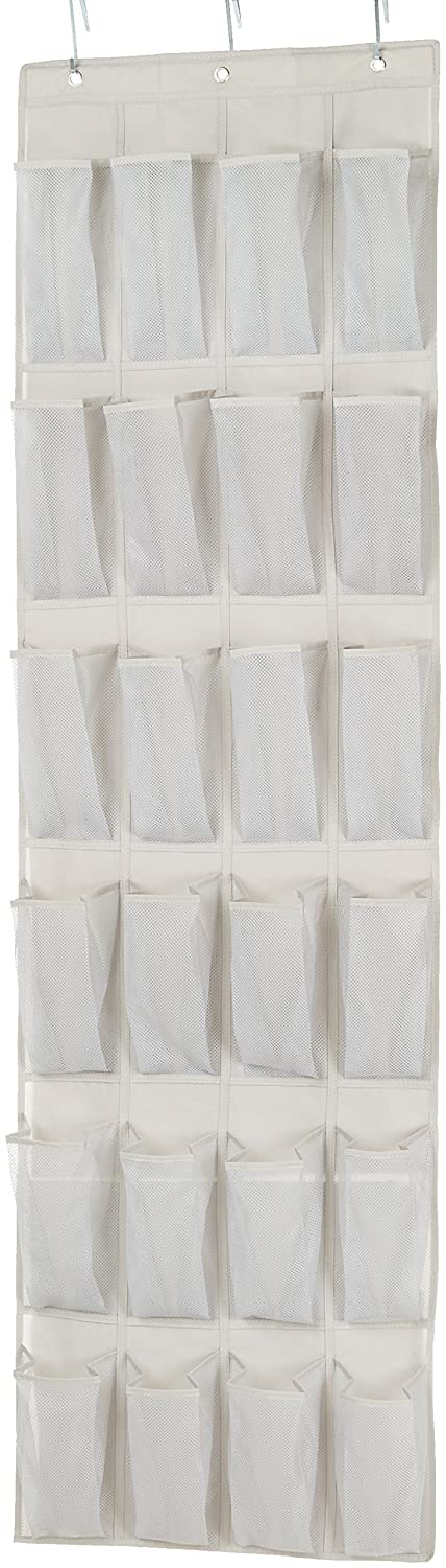 AmazonBasics 24-Pocket Over-the-Door Medium-Size Shoe Organizer